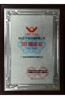 2015年度中国betway手机版工程30强企业