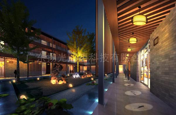 禅泉酒店夜景艺术照明设计